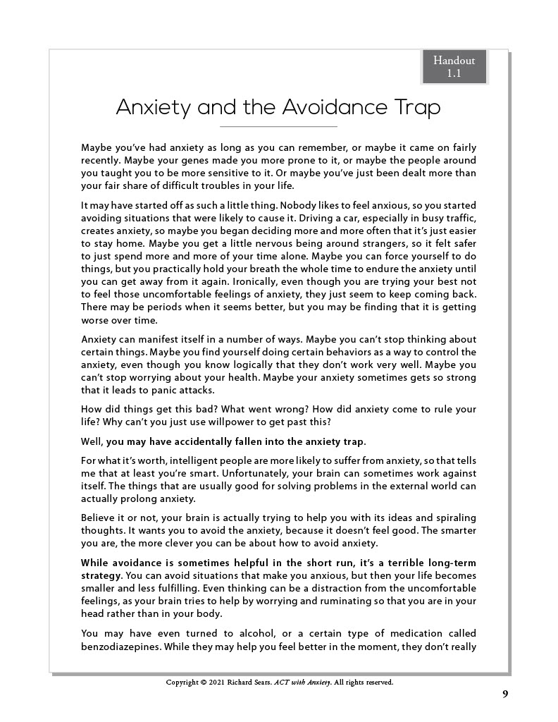 Anxiety and the Avoidance Trap