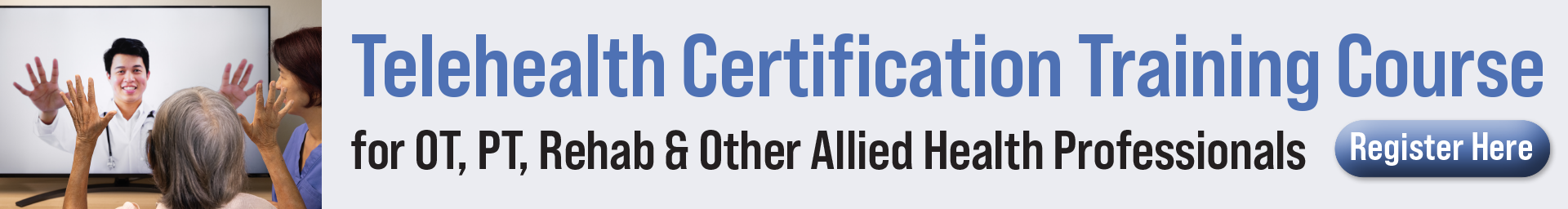Telehealth Certification Training Course for Allied Health Professionals