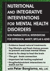 Nutritional & Integrative Interventions for Mental Health Disorders: N