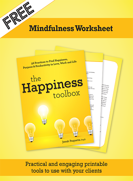 Mindfulness Worksheet from Happiness Toolbox