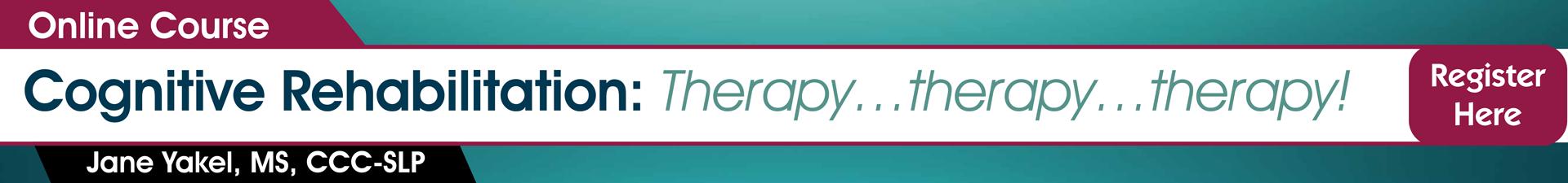 Cognitive Rehabilitation Online Course