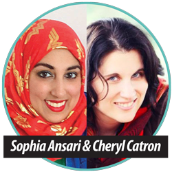 Sophia Ansari and Cheryl Catron