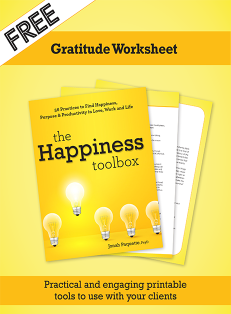 Gratitude Worksheet from Happiness Toolbox