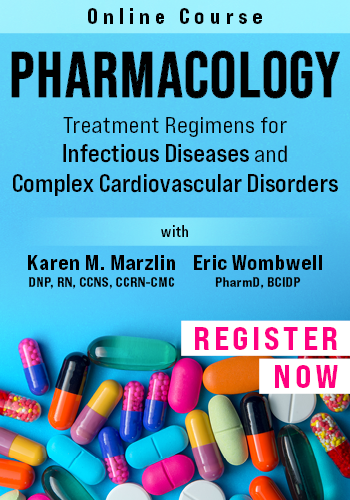 Online Pharmacology Course: Treatment Regimens for Infectious Diseases and Complex Cardiovascular Disorders