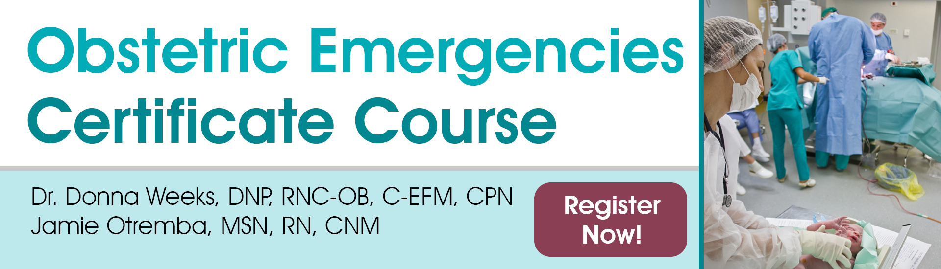 Obstetric Emergencies Certificate Course