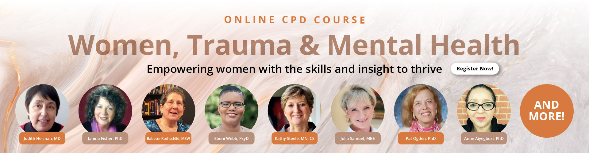 Women, Trauma and Mental Health Master Course: Empowering women with the skills and insight to thrive