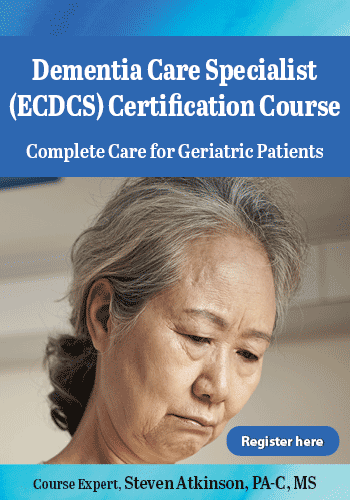 Dementia Care Specialist (ECDCS) Certification Course