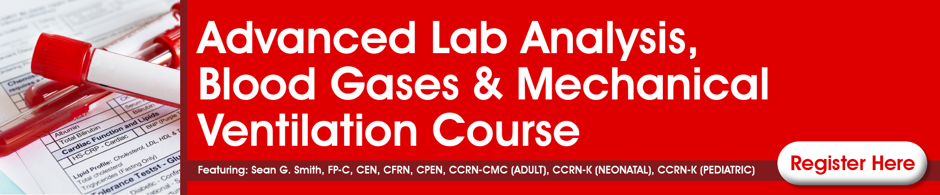 Clinical Interpretation Course: Strategies for Advanced Lab Analysis, Blood Gases & Mechanical Ventilation